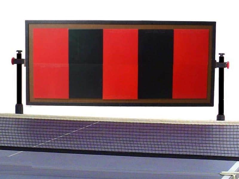 red and black table tennis return board