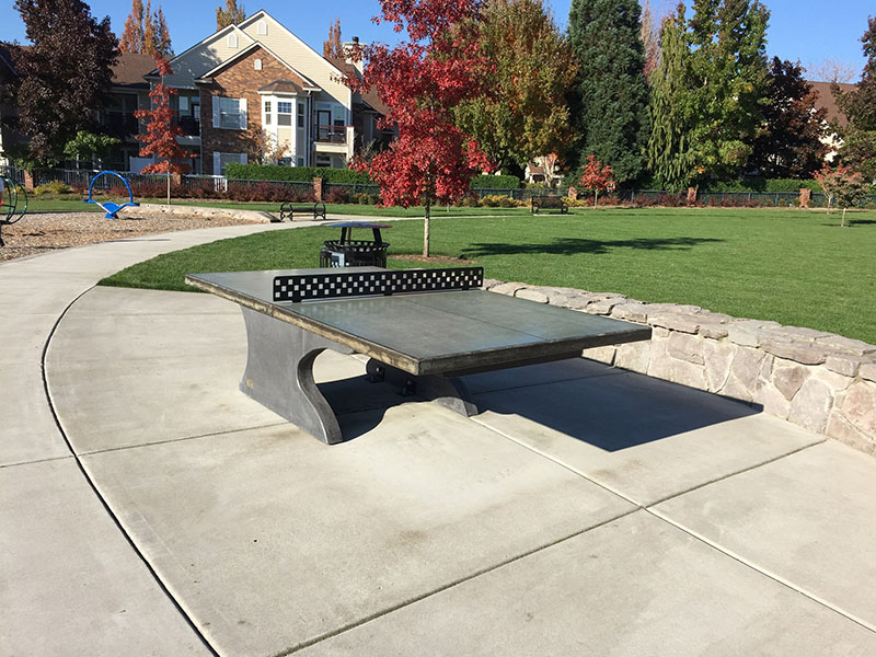 Outside Ping Pong Concrete Table