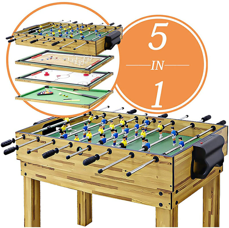 haxTON 1 Set of Popular Game Tables 5 in 1