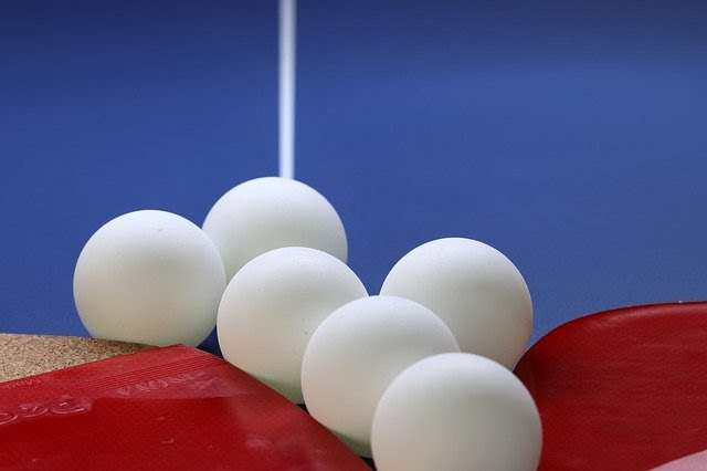 A collection of table tennis balls