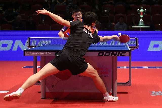Ma Long footwork in table tennis
